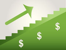 Steps to success. In green with white background Royalty Free Stock Photography