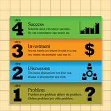 Steps to success. Template showing four steps to success, in different colors Royalty Free Stock Image