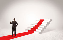 Steps to success concept with businessman Royalty Free Stock Image