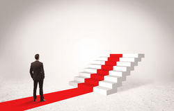 Steps to success concept with businessman Stock Photos
