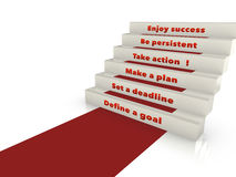 Steps to success. Concept of step necessary to achieve success Royalty Free Stock Photography
