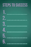 Steps to success. Illustration design over a blackboard Stock Photo