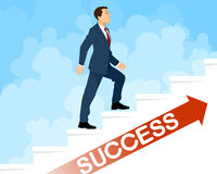 Steps to success. Vector illustration of a steps to success Royalty Free Stock Photography