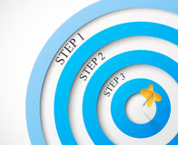 Steps to the target Royalty Free Stock Photo