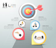 Steps to target infographic 5 options, Business concept infographic Royalty Free Stock Photo