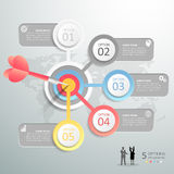 Steps to target infographic 5 options, Business concept infographic Royalty Free Stock Photography