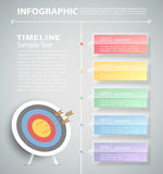 Steps to target infographic template. can be used for workflow, layout, diagram Stock Photo