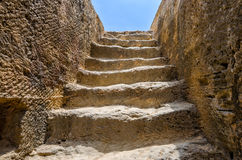 Steps to tomb in archaeological museum Royalty Free Stock Image