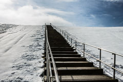 Steps to Top of Mount Trashmore with Snow Royalty Free Stock Image