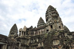 Steps to the towers of Angkor Wat Temple Stock Photos