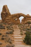 Steps to Turret Arch. Steps leading to Turret Arch in Arches national Park, Utah, USA Stock Image
