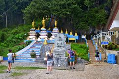 1237 steps to the Wat Tham Sua in Krabi. 1237 steps to the Wat Tham Sua, or Tiger Cave Temple, in Krabi, Thailand. October 23, 2014 royalty free stock images