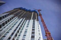 Modern buildings in London. Steps towards, the infinite blue sky Royalty Free Stock Image