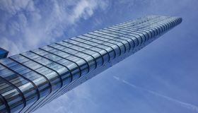 Modern buildings in London. Steps towards, the infinite blue sky Stock Photos