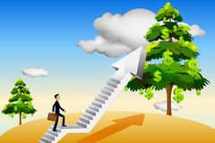 Steps towards success Stock Image