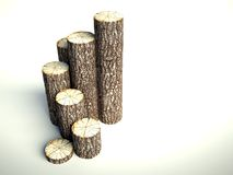 Steps of tree stumps, background Royalty Free Stock Photography