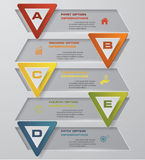5 steps with triangle shape bulletins clean banner template for presentation. EPS10 Stock Images