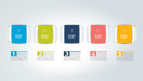 5 Steps  tutorial, chart, diagram, timeline. One two three four five concept Stock Photography