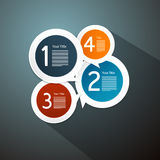 Steps for Tutorial, Infographics Royalty Free Stock Photos