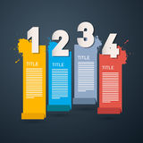 Steps for Tutorial, Infographics Stock Photography
