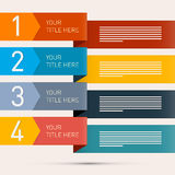 Steps for Tutorial, Infographics Stock Photos