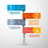 Steps for Tutorial, Infographics Stock Photo