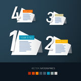 Steps for Tutorial, Infographics Royalty Free Stock Photography