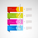 Steps for Tutorial, Infographics Stock Image