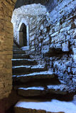 Steps in underground castte Stock Images
