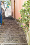 Steps up Alley in Positano Stock Photos