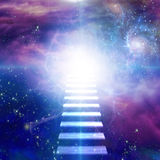 Steps up into cosmos