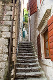 Steps Up Narrow Kotor Alley Stock Images