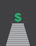 Steps up to Dollar Sign Stock Image