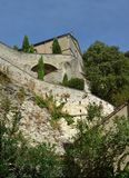 Steps Up to Gardens of The Popes, Avignon royalty free stock photo