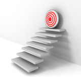Steps up to goal target business success concept. 3d render illustration Stock Photos