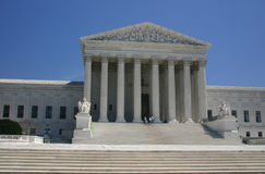 Steps up to supreme court (washington, dc). Wide shot with sky in background Royalty Free Stock Image