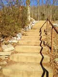 Steps up at walking trail Stock Photos