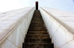 Steps. Urban staircase to conquer the highest point Royalty Free Stock Images