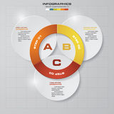 3 steps vector circle arrows for infographic. Template for diagram. EPS10 vector illustration