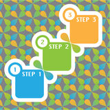 1 2 3 Steps vector. File eps Royalty Free Stock Images