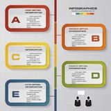 5 steps vector for infographic. Template for diagram. EPS10 Royalty Free Stock Image