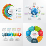7 steps vector infographic templates. Business concept Royalty Free Stock Images