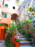 Steps in village on Italian Coast Royalty Free Stock Images