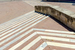 Steps and Walkway with square stone tiles Royalty Free Stock Photos