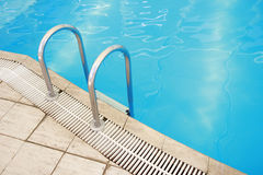 Steps in a water pool Stock Photos