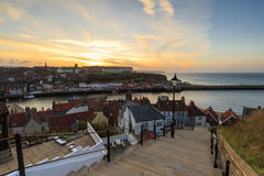 199 steps whitby Stock Photo