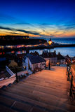 199 steps whitby Stock Photography