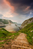 steps into wilderness, Dorset beach Royalty Free Stock Photography