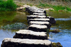 Stepstones crossing a small river Stock Photos