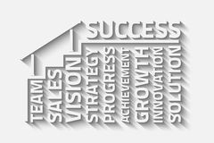 Stepstosuccess. Steps to success vector illustration Royalty Free Stock Images